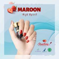 Strawberry Nail Henna 5 ml BPOM Kutek Halal Pertama Di Indonesia Kutek