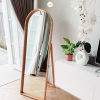 Arch Mirror 170 cm - Half Round Standing Mirror - Cermin Aesthetic