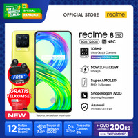 HP realme 8 Pro 8/128 Yellow [108MP Quad Camera, 50W Charge, NFC]