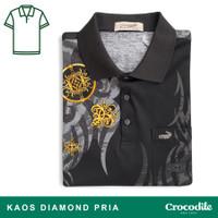Crocodile DIAMOND 1698 Black - Baju Kaos Kerah Pria Men Polo Original
