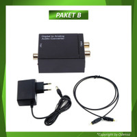 Digital to Analog Audio Converter Toslink Optical/Coaxial to RCA TV - Paket B