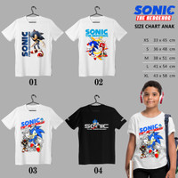 Kaos | Baju Anak | SONIC THE HEDGEHOG 01