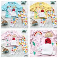 Piyama anak balita baby perempuan 1-2 tahun Rabbit pjamas adem