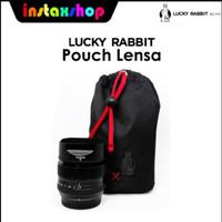 Lucky Rabbit Pouch Lensa Tas Lensa Accesories Handmade hitam