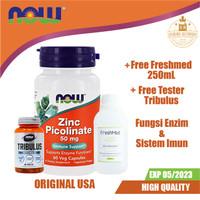 NOW Zinc Picolinate 60 Vegan Capsules