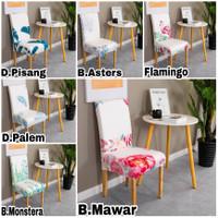Elastis COVER kursi makan-Sarung PELINDUNG kursi makan Import Stretch - B.Mawar