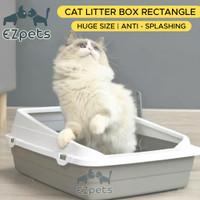 Tempat Pasir Kucing Cat Litter Box Huge Anti Splash Semi Enclosed