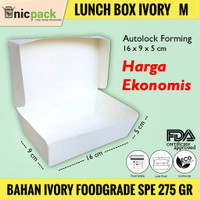 Paper Lunch Box size M Bahan Ivory Foodgrade