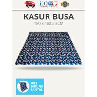 Kasur Busa Lantai Jumbo 180 x 180 x 3 CM Plus Sarung Bantal