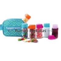 Tupperware Colorful Eco Mini Bottle 90ml 6pcs free tas
