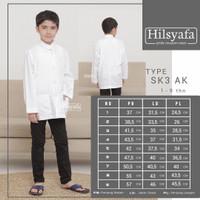 Baju koko anak Tangan Panjang Putih Hilsyafa atau Tsaqofah bukan Ammu.