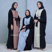 Abaya Gamis Syari/ Gamis lebaran Busui Ori Ayuka Winda Bahan Premium