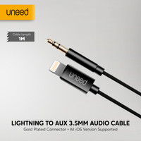 UNEED Kabel iPhone Lightning to Aux Audio 3.5mm Converter - UCB461XI