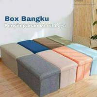 Kursi Box Bangku Lipat Storage Boks Sofa Tempat Penyimpanan Barang