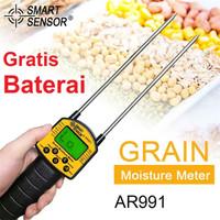Digital Grain Moisture Meter Pengukur Kadar Air Biji Bijian AR991 Alat