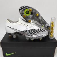 Sepatu Sepak Bola Nike Mercurial Vapor13 Elite White Black Sg