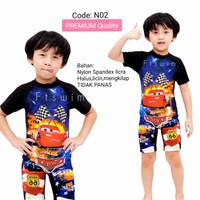 Baju renang anak laki-laki TK Cars/pakaian renang anak cowok pendek