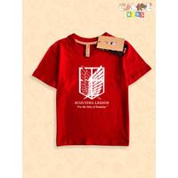 Kaos Baju anak Kids premium scouting legion logo attack of titans