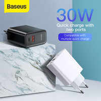 KEPALA CHARGER BASEUS QUICK CHARGER QC3.0/4.0 TYPE-C+USB 30W PD 5A