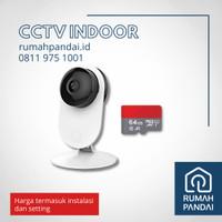 CCTV Indoor Statis/ CCTV WIFI + SD Card 64 GB + Instalasi