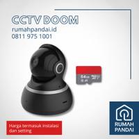 CCTV Indoor DOME / IP CCTV WIFI + SD CARD 64 GB + INSTALASI