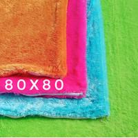 80x80 sarung bantal kursi sofa   sarung bantal lantai jumbo besar - Putih