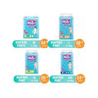 Baby Happy Pants M34+4/L30+4/XL26+4/XXL24+4