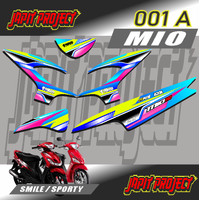 STICKER STRIPING MIO 110 SMILE / SPORTY CUSTOM MOTIF RACING -OO1