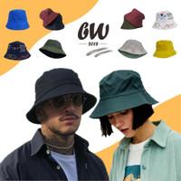 Topi Bucket Hat Polos Premium