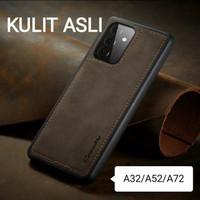 Back Case Samsung A72/A52/A32 Leather kulit Caseme Softcase Bumper