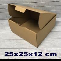 kardus/box 25x25x12cm..die cut, kotak kue tart-aksesoris dll