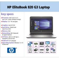 Ultrabook HP Elitebook 820 G3 Core i5 Gen 6 SSD -Ram 16gb/ 8gb - Mulus