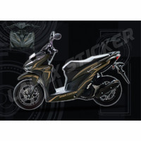 CUTTING STICKER BAHAN ORACAL BODY MOTOR HONDA VARIO NEW 125 150 PUTIH