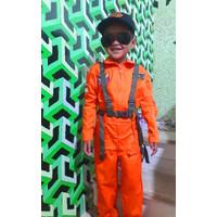 Kostum Pilot Jet Tempur Baju profesi Pilot tempur anak Kostum pilot - S