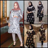 Atasan Batik Wanita Tunik Batik Terviral Dan terlaris 2021 kode - 02