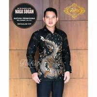 Baju Batik Pria Slimfit Big Size M L XL XXL Atasan Kemeja Batik Lengan