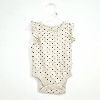 [100% Original] Old Navy Baby Bodysuit Kaos Bayi Unisex Full Tag Label - Dot Beige, 18-24 Bulan