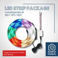 Smart LED Strip 2M + Adaptor 1A (Bisa untuk 4M LED) + Instalasi