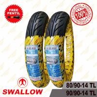 Satu Set Ban Motor Ring 14 Swallow Seahawk 80/90 ~ 90/90 Tubeless