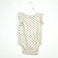 [100% Original] Old Navy Baby Bodysuit Kaos Bayi Unisex Full Tag Label - Dot Beige, 12-18 Bulan