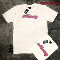 Baju Kaos Tshirt Stussy Pink Type Premium Hype Mirror Quality