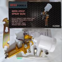 Spray Gun Mini HVLP H2000 Spray Gun HVLP Tabung Atas Nozzle 1 mm