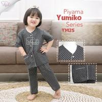 Shofwah Yumiko Series Piyama Anak /Remaja Cewek YM25 DB Hitam