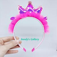 Bando Mahkota Anak - Pink Tua