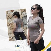Kaos Olahraga STL Hazelnut - Baju Senam Yoga Zumba Running Wanita