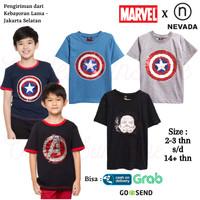 Baju Kaos Atasan Anak Laki Laki Marvel Nevada 4 Branded Original