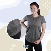 Kaos Olahraga Wanita ANKO SealGreen mesh - Baju Senam Gym Zumba