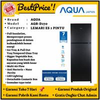 KULKAS 2 PINTU AQUA AQR-D270 AQRD 270 LOW WATT NO FROST COSMETIC BOX