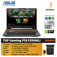 Asus TUF Gaming F15 FX506LI 144Hz i5 10300H 16GB 512GB SSD GTX1650Ti