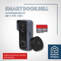 SMART DOOR BELL / Bel Pintu Berkamera + SD CARD 64GB + Instalasi